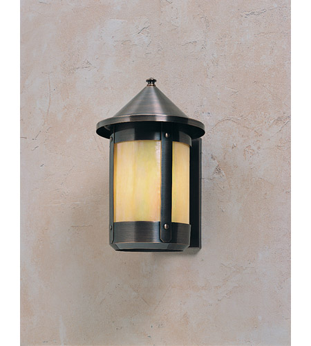 Arroyo Craftsman BS-8RGW-AC Berkeley 1 Light 8 inch Antique Copper Wall Mount Wall Light in Gold White Iridescent photo