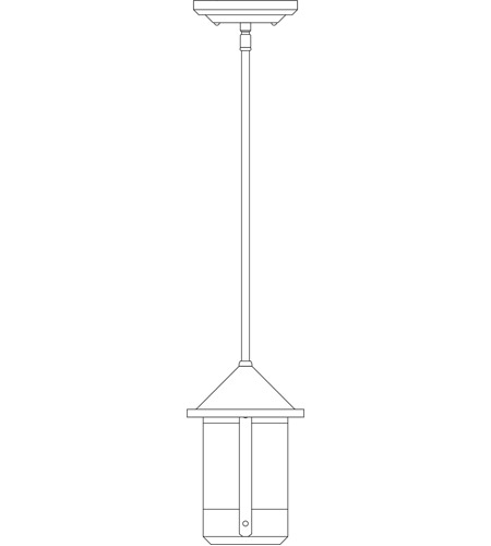 Arroyo Craftsman BSH-6OF-BK Berkeley 1 Light 6 inch Satin Black Outdoor Pendant in Off White photo