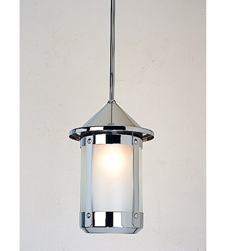 Arroyo Craftsman BSH-7F-N Berkeley 1 Light 7 inch Nickel Pendant Ceiling Light in Frosted photo