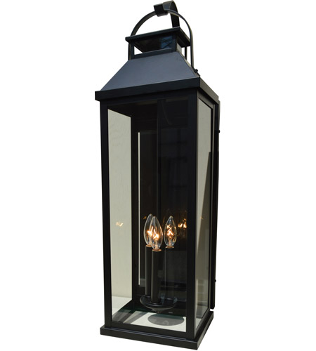 Arroyo Craftsman CAB-7LCS-RC Canterbury 3 Light 23 inch Raw Copper Outdoor Wall Mount in Clear Seedy photo