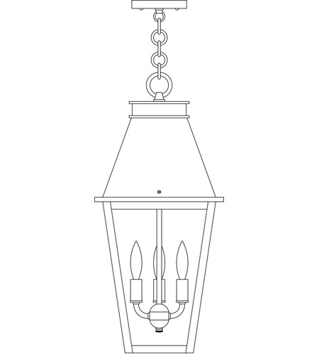 Arroyo Craftsman CRH-10CLR-MB Croydon 3 Light 10 inch Mission Brown Pendant Ceiling Light in Clear photo