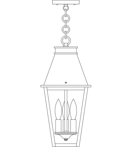 Arroyo Craftsman CRH-8RM-BZ Croydon 3 Light 8 inch Bronze Pendant Ceiling Light in Rain Mist photo