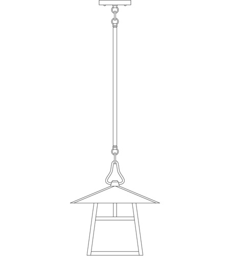 Arroyo Craftsman CSH-12HRM-BK Carmel 1 Light 12 inch Satin Black Pendant Ceiling Light in Rain Mist, Hillcrest Overlay, Hillcrest Overlay photo