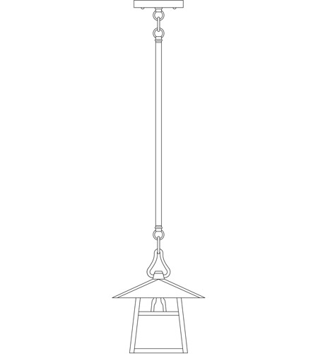 Arroyo Craftsman CSH-8HAM-BK Carmel 1 Light 8 inch Satin Black Pendant Ceiling Light in Almond Mica, Hillcrest Overlay, Hillcrest Overlay photo