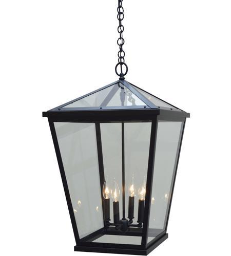 arroyo craftsman deh 17clr bk devonshire 4 light 17 inch satin black outdoor pendant