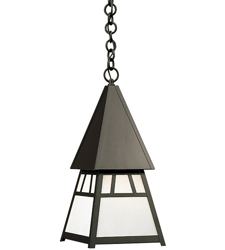 Arroyo Craftsman DH-8WO-BK Dartmouth 1 Light 10 inch Satin Black Pendant Ceiling Light in White Opalescent photo