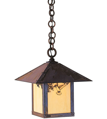 Arroyo Craftsman EH-12HFTN-MB Evergreen 1 Light 12 inch Mission Brown Pendant Ceiling Light in Tan photo thumbnail