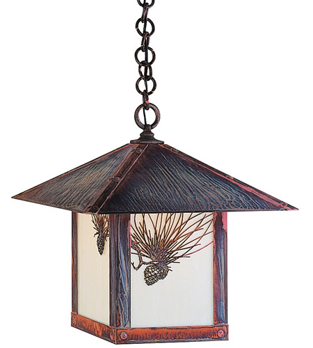 Arroyo Craftsman EH-16PFOF-RC Evergreen 1 Light 16 inch Raw Copper Pendant Ceiling Light in Off White photo