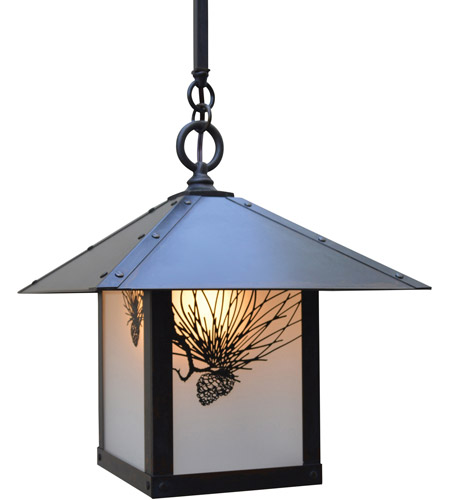 Arroyo Craftsman Satin Black Evergreen Pendants