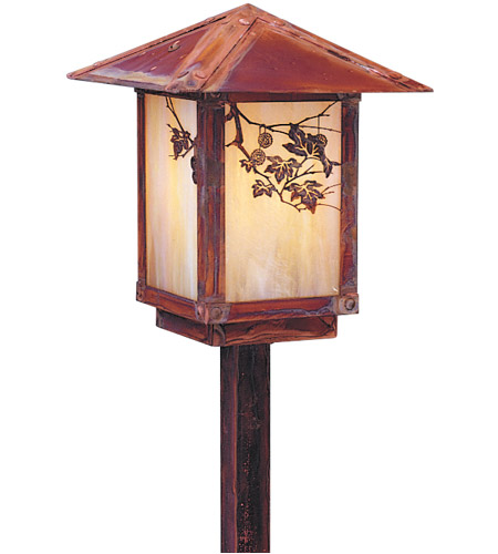 Arroyo Craftsman ESP-7PFOF-BK Evergreen 60 watt Satin Black Outdoor Landscape in Off White, Pine Needle Filigree, Pine Needle Filigree photo