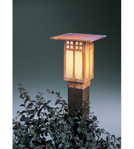Arroyo Craftsman GPC-9GW-RC Glasgow 100 watt Raw Copper Landscape Light in Gold White Iridescent photo