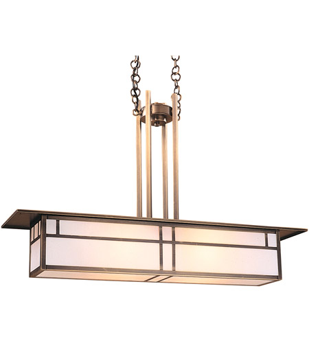 Arroyo Craftsman HCM-35DTWO-AB Huntington 2 Light 9 inch Antique Brass Pendant Ceiling Light in White Opalescent photo