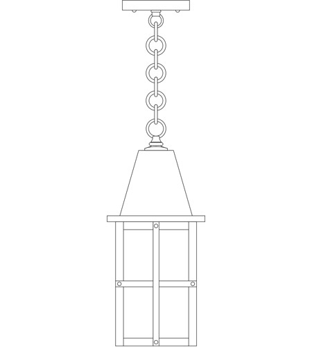 Arroyo Craftsman HH-6F-BK Hartford 1 Light 6 inch Satin Black Pendant Ceiling Light in Frosted photo