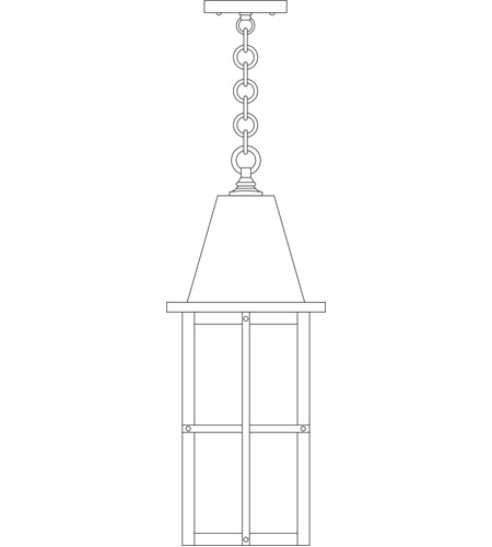 Arroyo Craftsman HH-8LF-BK Hartford 1 Light 8 inch Satin Black Pendant Ceiling Light in Frosted photo