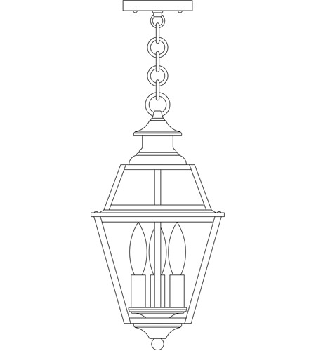 Arroyo Craftsman INH-8GRCLR-BZ Inverness 3 Light 8 inch Bronze Pendant Ceiling Light in Clear photo