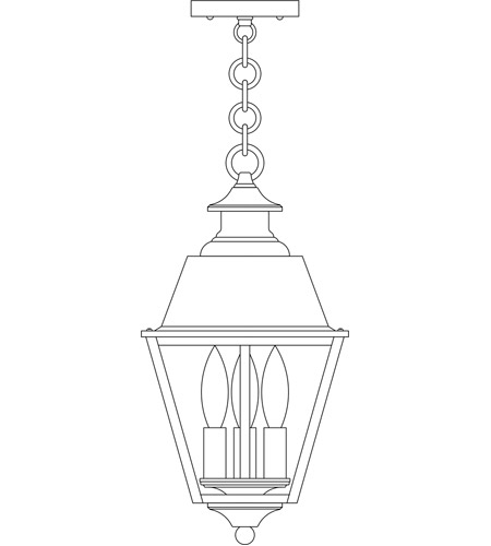Arroyo Craftsman INH-8MRCLR-P Inverness 3 Light 8 inch Pewter Pendant Ceiling Light in Clear photo