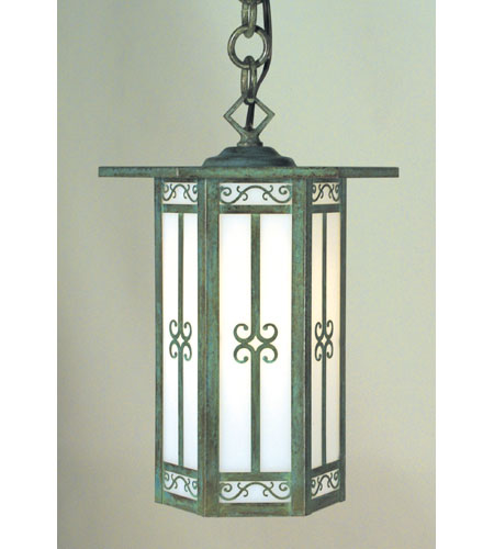 Arroyo Craftsman LIH-9F-BK Lily 1 Light 9 inch Satin Black Pendant Ceiling Light in Frosted photo