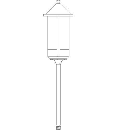 Arroyo Craftsman LV12-B6LOF-BK Berkeley Low Voltage 18 watt Satin Black Outdoor Landscape in Off White photo