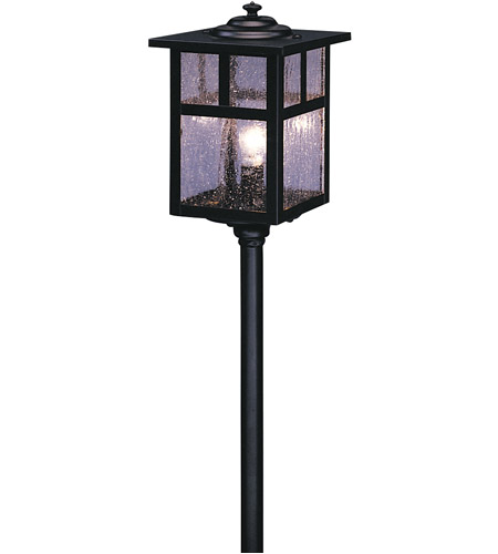 Arroyo Craftsman LV12-M5TCS-BK Mission 18 watt Satin Black Landscape Light in Clear Seedy photo