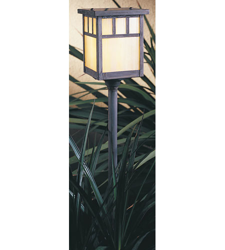Arroyo Craftsman LV18-H4DTGW-MB Huntington 18 watt Mission Brown Landscape Light in Gold White Iridescent photo