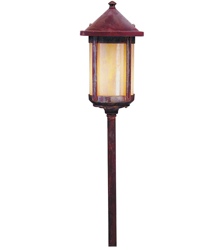 Arroyo Craftsman LV24-B6GW-RC Berkeley 18 watt Raw Copper Landscape Light in Gold White Iridescent photo
