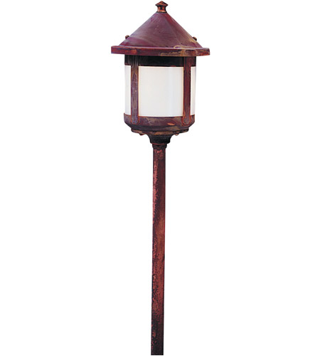 Arroyo Craftsman LV24-B6SWO-RC Berkeley 18 watt Raw Copper Landscape Light in White Opalescent photo