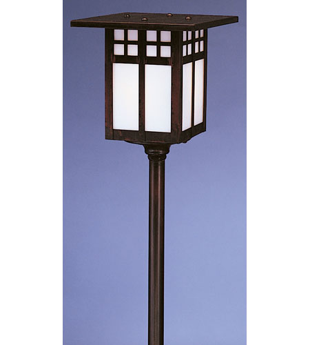 Arroyo Craftsman LV24-G6WO-BZ Glasgow 18 watt Bronze Landscape Light in White Opalescent photo