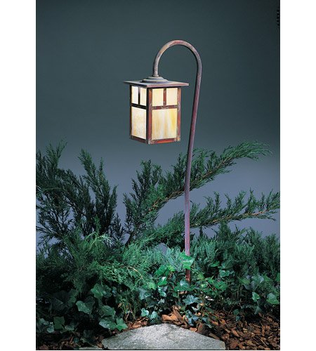 Arroyo Craftsman LV36-M6TGW-RC Mission 18 watt Raw Copper Landscape Light in Gold White Iridescent photo thumbnail