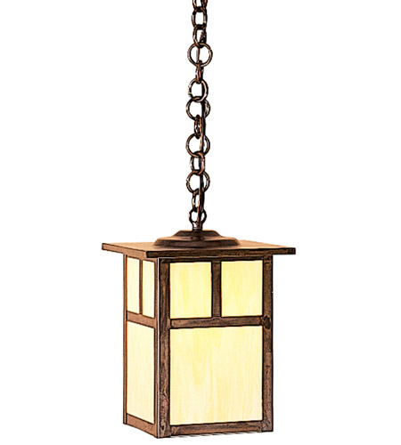 Arroyo Craftsman MH-7TTN-BZ Mission 1 Light 7 inch Bronze Pendant Ceiling Light in Tan photo