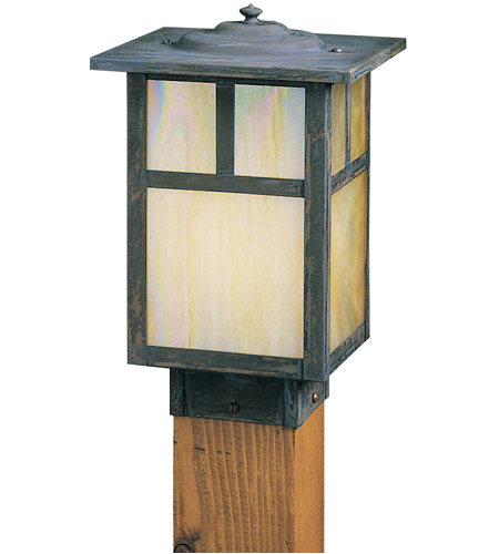 Arroyo Craftsman MPC-7TGW-MB Mission 60 watt Mission Brown Landscape Light in Gold White Iridescent photo