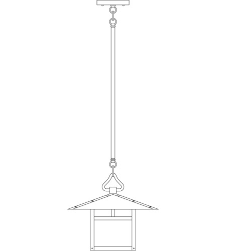Arroyo Craftsman MSH-12HFCR-BK Monterey 1 Light 12 inch Satin Black Pendant Ceiling Light in Cream, Hummingbird Filigree, Hummingbird Filigree photo