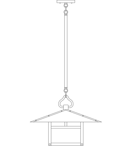 Arroyo Craftsman MSH-17TRM-BK Monterey 1 Light 17 inch Satin Black Pendant Ceiling Light in Rain Mist, T-Bar Overlay, T-Bar Overlay photo