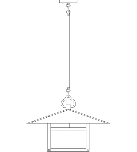 Arroyo Craftsman MSH-20TF-BK Monterey 1 Light 20 inch Satin Black Pendant Ceiling Light in Frosted, T-Bar Overlay, T-Bar Overlay photo