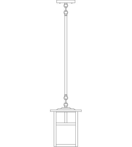 Arroyo Craftsman MSH-7TCR-BK Mission 1 Light 7 inch Satin Black Pendant Ceiling Light in Cream, T-Bar Overlay, T-Bar Overlay photo