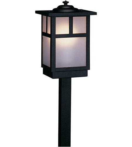 Arroyo Craftsman MSP-5TF-BK Mission 60 watt Satin Black Landscape Light in Frosted photo