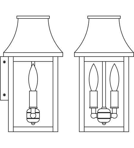 Arroyo Craftsman Providence Outdoor Wall Lights