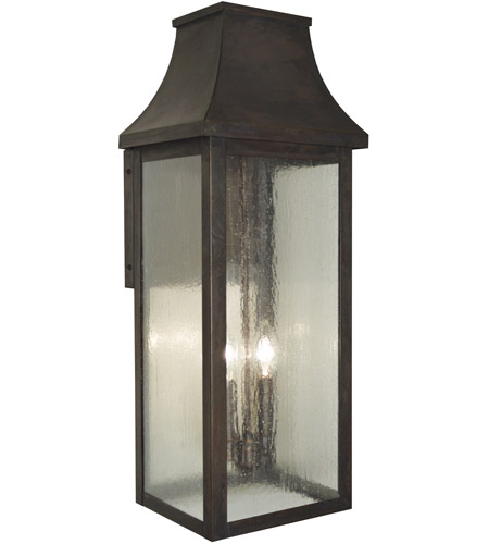 Arroyo Craftsman PRW-9CLR-BZ Providence 2 Light 24 inch Bronze Outdoor Wall Mount in Clear