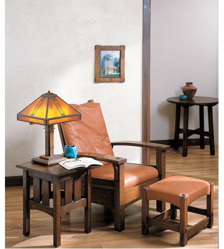 Arroyo Craftsman PTL-15M-BZ Prairie 23 inch 40 watt Bronze Table Lamp Portable Light in Amber Mica PTL-15M-BZ-env.jpg