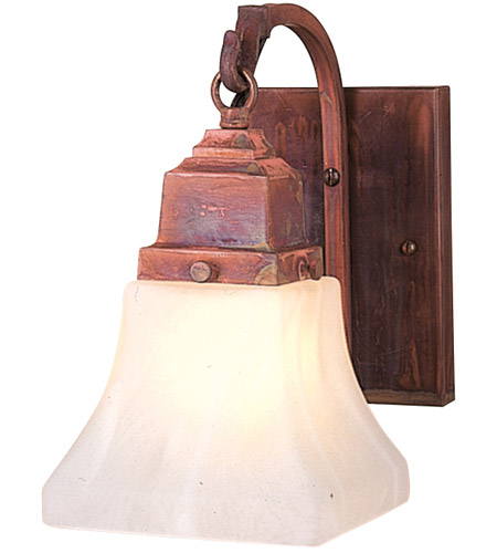 Arroyo Craftsman RB-1-RB Ruskin 1 Light 5 inch Rustic Brown Wall Mount Wall Light, Glass Sold Separately
