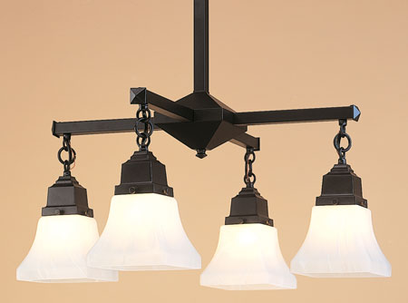 Arroyo Craftsman Satin Black Chandeliers