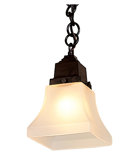 Arroyo Craftsman RH-1-RC Ruskin 1 Light 5 inch Raw Copper Pendant Ceiling Light, Glass Sold Separately