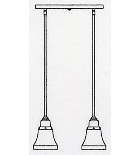 Arroyo Craftsman RICH-2-BZ Ruskin 2 Light 15 inch Bronze Pendant Ceiling Light RICH-2_line.jpg