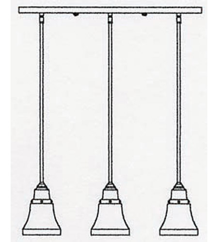 Arroyo Craftsman RICH-3-AC Ruskin 3 Light 24 inch Antique Copper Pendant Ceiling Light RICH-3_line.jpg