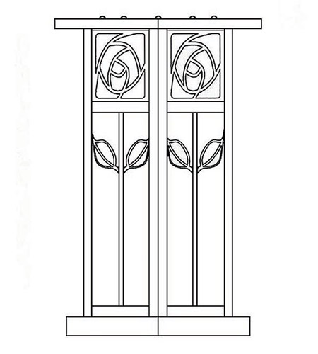 Arroyo Craftsman SCC-12F-BK Saint Clair 1 Light 13 inch Satin Black Column Mount in Frosted SCC-12_line.jpg