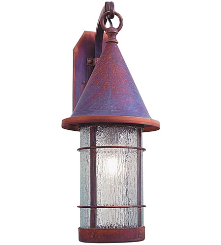 Arroyo Craftsman VB-9RM-RC Valencia 1 Light 9 inch Raw Copper Wall Mount Wall Light in Rain Mist photo thumbnail