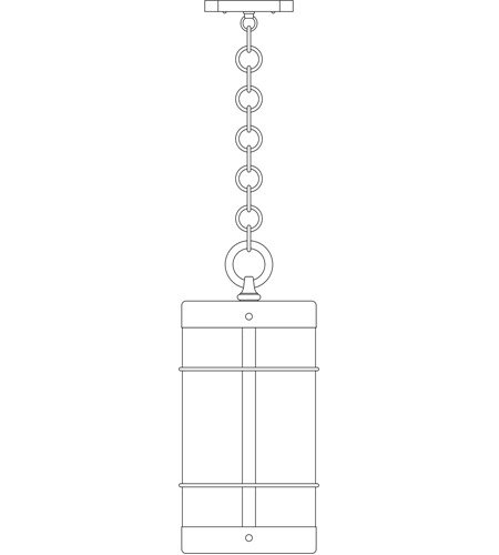 Arroyo Craftsman VH-11NRCS-P Valencia 1 Light 8 inch Pewter Pendant Ceiling Light in Clear Seedy