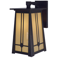 Aberdeen 1 Light 14 inch Bronze Outdoor Wall Mount in Tan