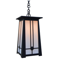 Arroyo Craftsman ABH-9WO-BK Aberdeen 1 Light 9 inch Satin Black Pendant Ceiling Light in White Opalescent