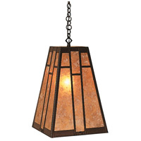 Arroyo Craftsman AH-12AM-BZ Asheville 1 Light 12 inch Bronze Pendant Ceiling Light in Almond Mica