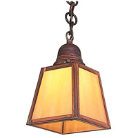 A-Line 1 Light 5 inch Raw Copper Pendant Ceiling Light in Gold White Iridescent